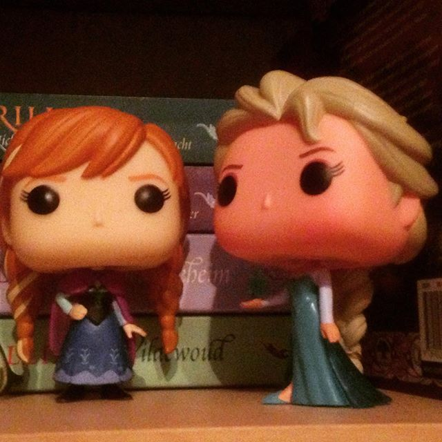 Instagram media acrazylady - Anna and Elsa united. Elsa has her sister with her. #frozen #funkopop