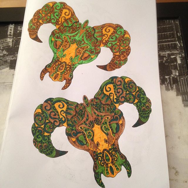 Instagram media acrazylady - #skulls #tattoo #kleurenvoorvolwassenen #action