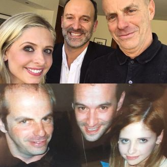"Instagram media sarahmgellar - #throwbackthursday (a bit early in Los Angeles) this picture was taken on the eve of production on the original #cruelintentions. Its me #rogerkumble (director) and #nealmoritz (exec producer) and the other is a picture of us now on the eve of production on the new #cruelintentions. That's right ""everybody loves me, and I intend to keep it that way"" #kathrynmerteuil is back!!! I am happy to say that I will be joining them (and @nbctv ) on the new #Crueltv"