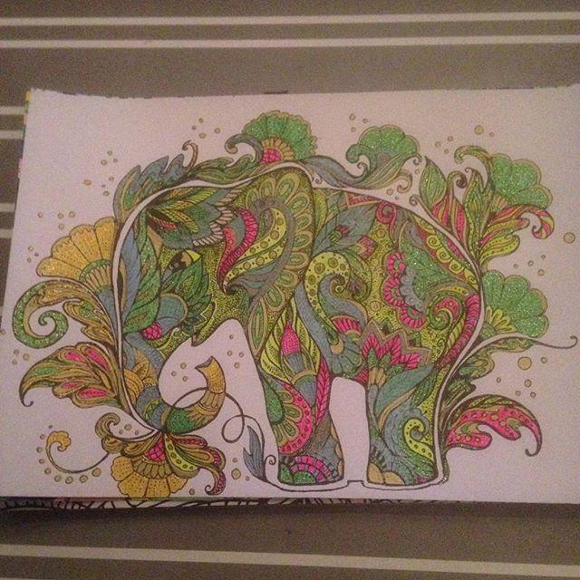 Instagram media acrazylady - #kleurenvoorvolwassenen #olifant