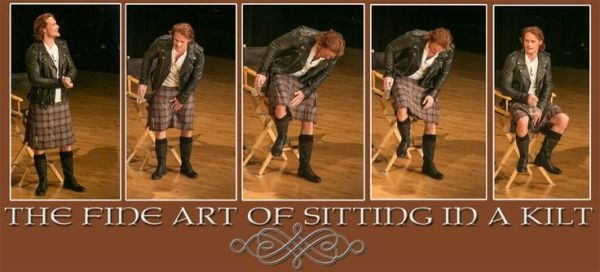 Image result for Sam Heughan  kilt