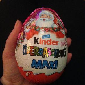 #kinderüberraschungmaxifürmädchen zeer groot ei