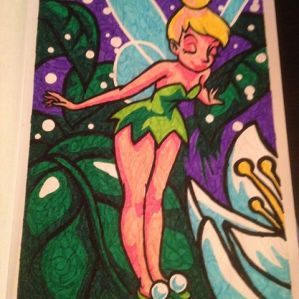 Af #kleurenopnummer #colouringforadults #tinkerbell #peterpan
