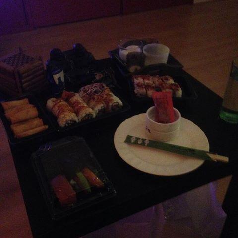 Laatst sushi gegeten met me lieve zusje