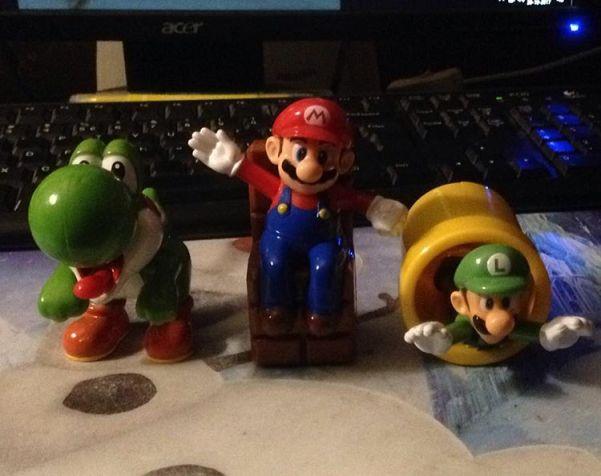 Mario speeltjes van de mcdonalds