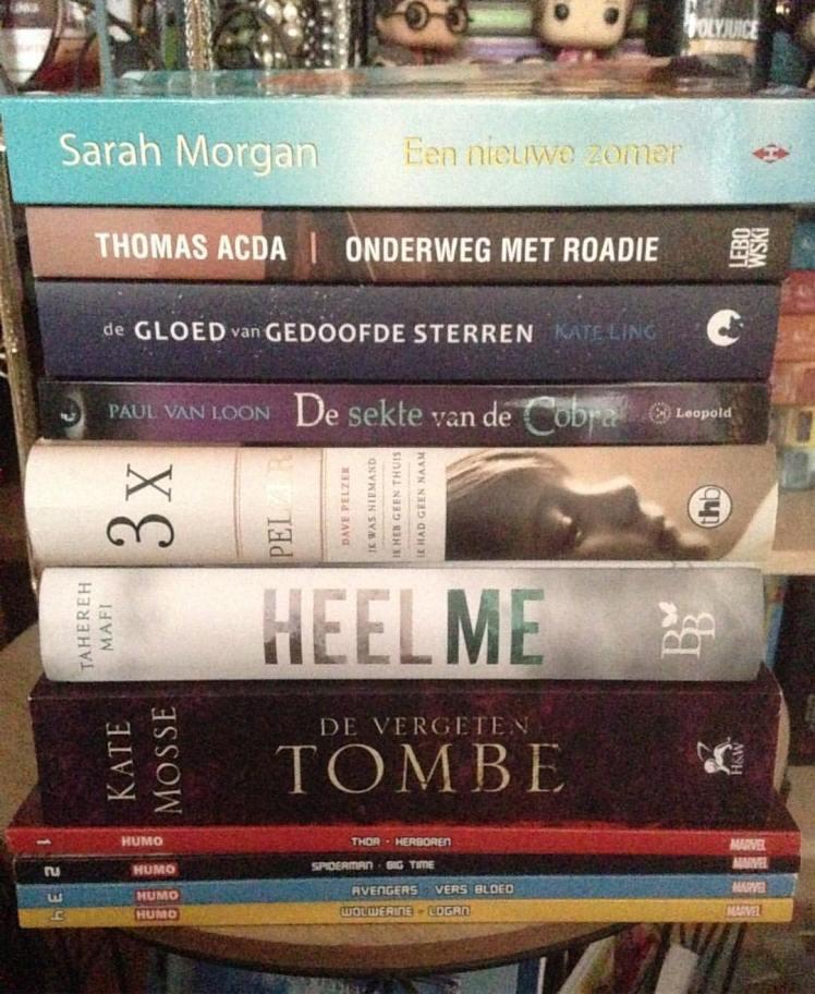Gelezen papieren boeken mei 2018 Nederlandstalig